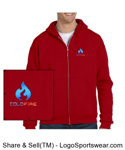 Coldfire Hoodie Zipper Red Design Zoom