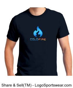Coldfire T-shirt Navy Design Zoom