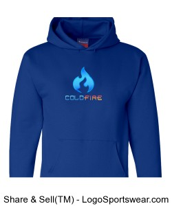 Coldfire Hoodie Blue Design Zoom
