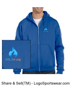 Coldfire Hoodie Zipper Blue Design Zoom